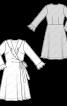 Сукня трикотажна з запахом і воланами - фото 3