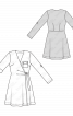Сукня трикотажна з запахом і нагрудною кишенею - фото 3