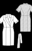 Сукня відрізна з ефектом запаху - фото 3