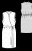 Сукня з запахом і коміром-стойкою - фото 3