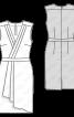 Сукня атласна з ефектом запаху - фото 3