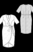 Сукня трикотажна з запахом і асиметричним низом - фото 3