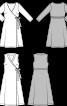 Сукня трикотажна з запахом і шалевим коміром - фото 3