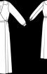 Сукня з запахом і глибоким вирізом горловини - фото 3