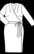 Сукня приталеного крою з запахом - фото 3