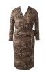 Сукня приталеного крою з запахом - фото 2
