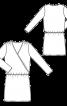 Сукня з запахом і зборками на плечах - фото 3