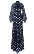 Сукня максі зі шлейфом і пишними рукавами - фото 2