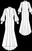 Сукня максі зі шлейфом і пишними рукавами - фото 3