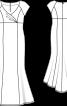 Сукня максі з міні-шлейфом - фото 3