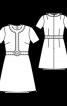 Сукня міні зі спідницею А-силуету - фото 3