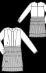 Сукня відрізна зі спідницею плісе - фото 3