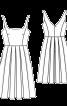 Сукня на бретелях із спідницею в складку - фото 3