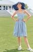 Сукня на бретелях і з пишною спідницею - фото 1