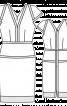 Сукня приталеного силуету з V-подібними вирізами - фото 3