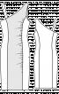 Сукня приталеного силуету з асиметричним вирізом горловини - фото 3