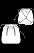 Сумка-мішок із застібками-блискавками - фото 3