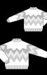 Пуловер в'язаний із зигзагоподібним узором - фото 2