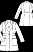 Сюртук із накладними кишенями і вшивним поясом - фото 3