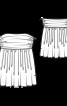 Топ-бандо зі складками на нижній частині - фото 3