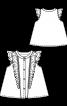 Блузка розкльошеного силуету з оборками - фото 3