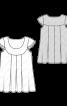 Блузка А-силуету на фігурній кокетці  - фото 3
