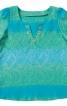 Туніка розкльошеного силуету з довгими рукавами - фото 2
