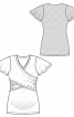 Футболка з рукавами-крильцями і драпіровками - фото 3