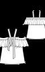 Топ на бретелях і з вирізом кармен - фото 3