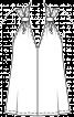 Топ розкльошеного силуету з подвійними бретелями - фото 3