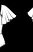 Блузка з рукавами-крильцями - фото 3