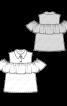 Блуза з оборкою на відкритих плечах - фото 3