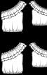 Блузка з асиметричним вирізом кармен - фото 3