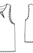 Топ прямого крою з виточками біля горловини - фото 3