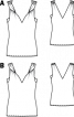 Топ приталеного силуету на перекручених бретелях - фото 3