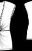 Топ приталеного крою з оригінальною драпіровкою - фото 3