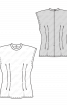 Блузка приталеного крою з коміром-стойкою - фото 3