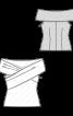 Топ приталеного силуету з широким коміром - фото 3
