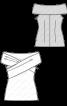 Топ приталеного крою з широким коміром - фото 3