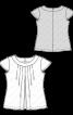 Блузка із застроченими складками біля горловини - фото 3