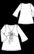 Туніка силуету ампір із рукавами-розтрубами - фото 3