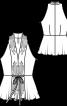 Блузка з баскою і американською проймою - фото 3