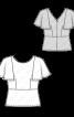 Блузка з баскою і рукавами-крильцями - фото 3