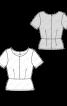Блузка з баскою і короткими рукавами - фото 3