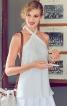 Топ розкльошеного силуету з беретеллю-петлею - фото 1