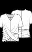 Блузка-топ з оригінальними драпіровками - фото 3