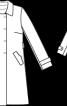 Тренчкот із застібкою на кнопки - фото 3