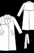 Тренчкот приталеного силуету з відлітними кокетками - фото 3