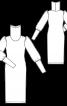 Сукня трикотажна з високим коміром гольф - фото 3