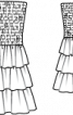 Сукня-бандо з каскадом оборок на спідниці - фото 3